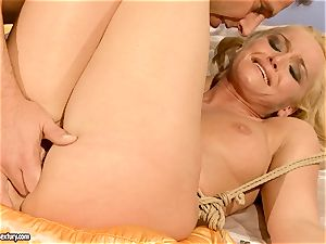 scorching Kathia Nobili gets her slit packed with chisel