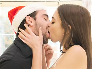 Riley Reid - My wooly cock-squeezing snatch needs Santa's fat weenie