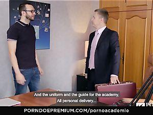porn ACADEMIE Lana Rhoades loves tearing up French lollipop