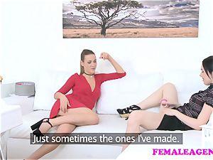 FemaleAgent Agents get ultra-kinky probing new fucktoys