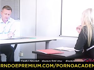 porno ACADEMIE - buxomy Georgie Lyall ravages principal