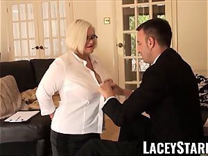 LACEYSTARR - enslaved GILF bootie wedged by Pascal white