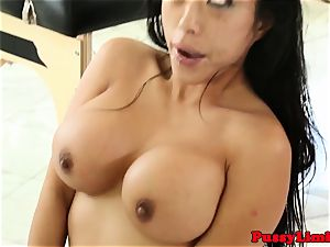 Bigtitted japanese bitch porked rough from behind