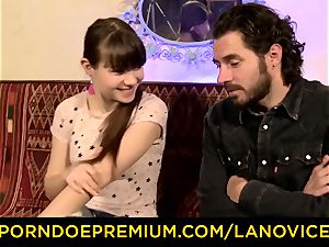 LA beginner - super-hot French teenager unexperienced rammed doggy style
