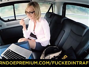 torn up IN TRAFFIC - messy nasty cumshot for mummy