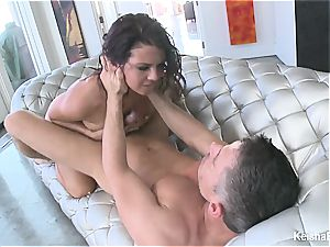 nice black-haired Keisha takes Mick's fuck-stick