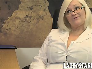 LACEYSTARR - GILF munches Pascal milky jizz after lovemaking