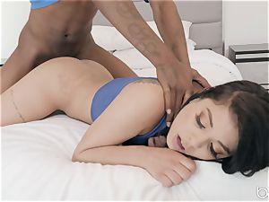 jamming down that ebony penis down Gina Valentina