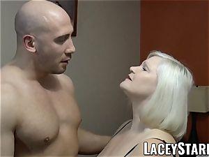 LACEYSTARR - GILF tempts big dicked cub into fuckin'
