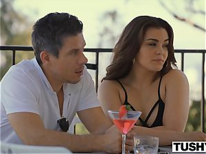 TUSHY girlfriend Gets predominated By intensity couple On Vacation