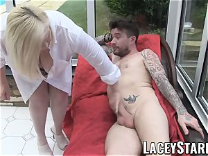 LACEYSTARR - Artistic GILF creampied after blowage