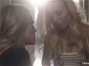 girl/girl tear up In Corridor