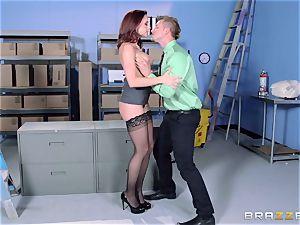 Chanel Preston drills her beautiful stud at work