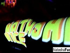 big-chested Natasha Shoots A fun And mind-blowing ebony Light flick