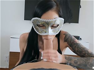 babes Marley Brinx and Molly Mae masked fucking and gargling