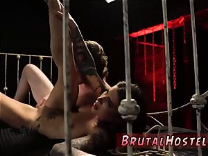 rough bondage and limited down rigid buttfuck sexually aroused youthfull tourists Felicity Feline and Jade