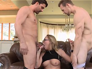 Carter Cruise dual screwed by 2 giant spunk-pumps