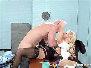 fabulous office babe Alix Lynx takes a 2nd helping