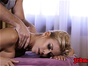 buxomy cougar Alexis Fawx loves a hard-on railing massage