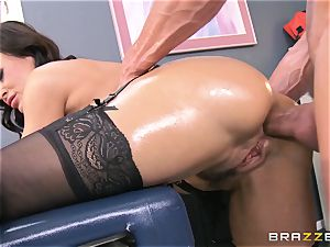 Lisa Ann all greased up and analled