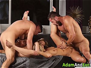 softcore duo and jizz interchange with scorching blondes
