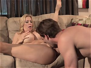 Neighbors wife pt3 wondrous milf Alexis Fawx messing with draped nubile