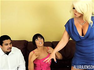 Alura Jenson gets a bit nasty and embarks to slap