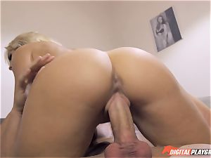 This pecker is larger than yours Karlie Simone makes justice with her boyfriend from hotwife on her