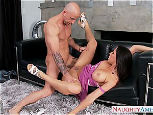 huge-chested girlfriend Rachel Starr romping