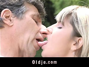 Gina Gerson gets anal invasion from an senior fellow
