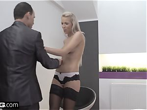 Glamkore gorgeous european babe Karol Striptease for her paramour