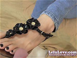 Lelu Love-Sandals black boinks Footjob