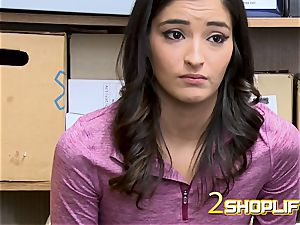 Emily s drama gets her disrobed down and plumbed by insane officers jizz-shotgun