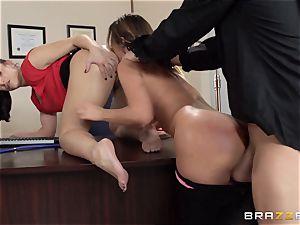 Jada Stevens shares a doctors penis with Mischa Brooks