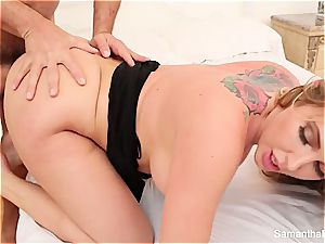 Samantha Saint gets sexually satisfied by a large stiffy