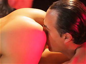Asa Akira gets her molten lips obese a massive long man sausage