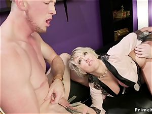 huge-chested wifey has three-way at home