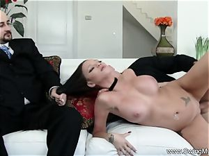 Exotic Swinger wifey smashes Another stud