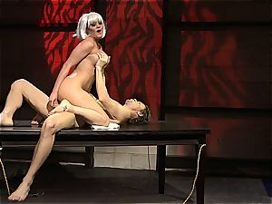 Charley chase is a platinum haired pulverize damsel