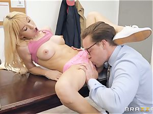 Kenzie Reeves crammed in her cock-squeezing gash