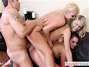 jaw-dropping Aaliyah love plowing in fourway