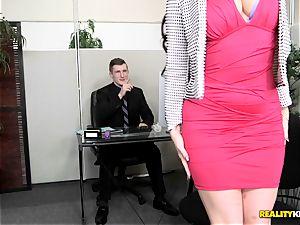 beating rock-hard Ryan smirks in the office
