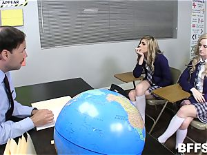 Classroom fuck-a-thon for gang of hookup students