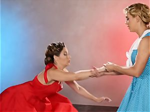 Dancing turns messy with Cherie Deville and Cassidy Klein