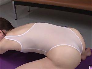 student hard-core activity with needy Moe Sakura