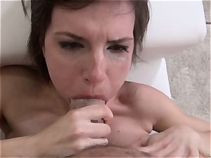 Nina gets a total explosions of fresh cum from Rocco Siffredi