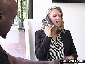 SHEWILLCHEAT - insatiable Real Estate Agent pokes big black cock