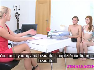 FemaleAgent crazy agent observes and drains