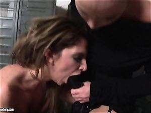Kathia Nobili lets a super hot lady fellate her strap on