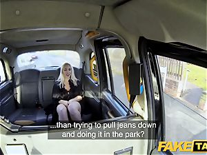 fake cab blondie mummy Victoria Summers banged in a taxi